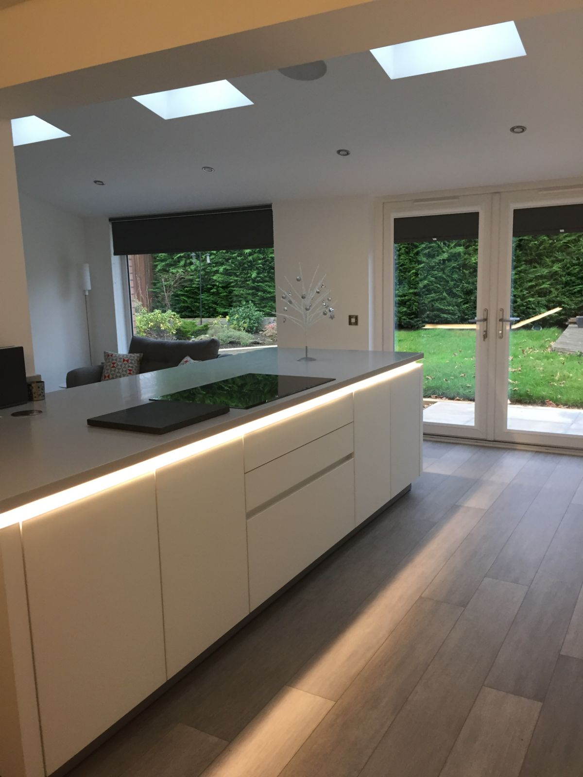 Large extension, Utility, kitchen/dining area complete with large feature picture window/upvc french doors/velux roof windows