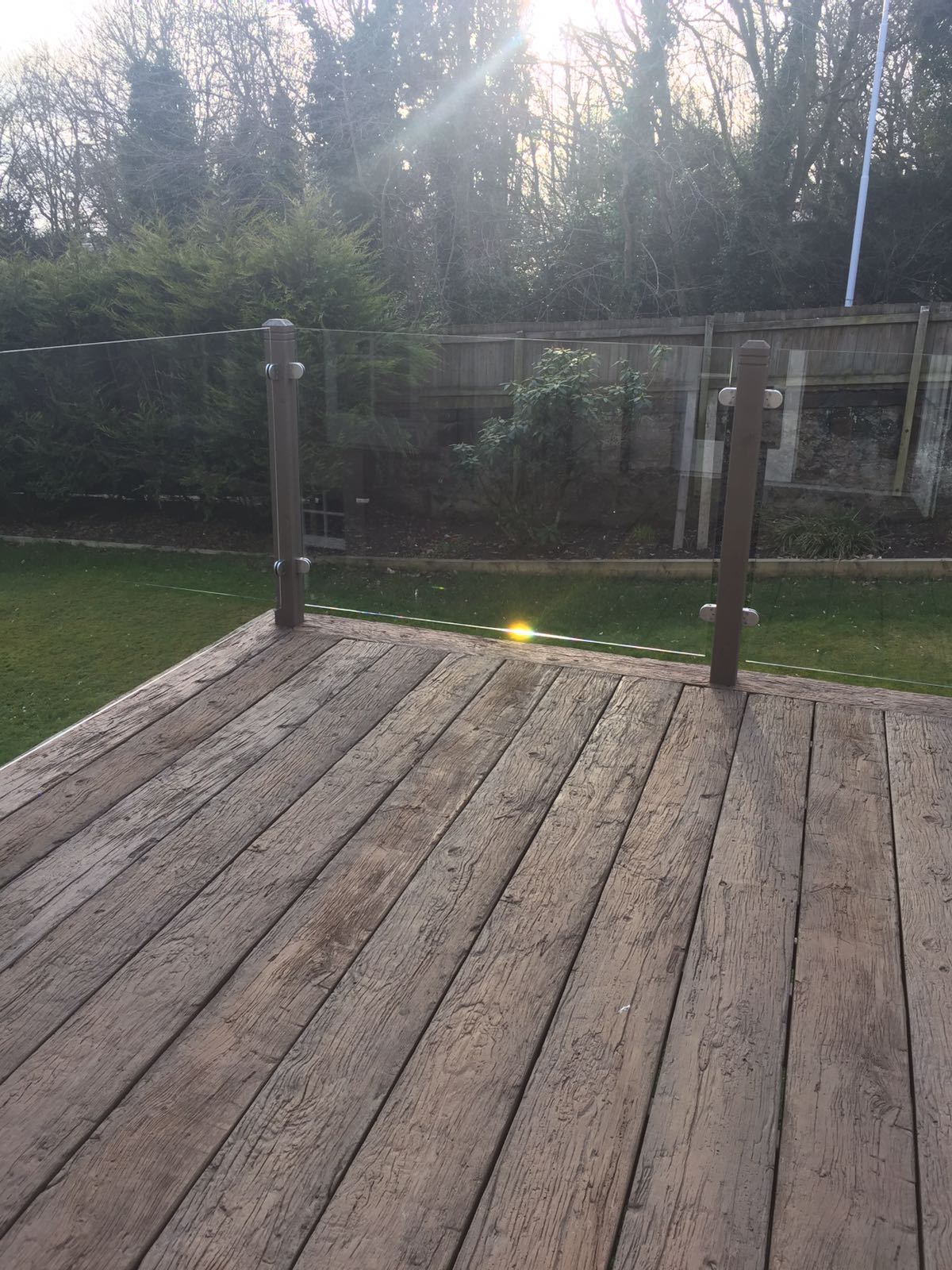 Weathered Oak non timber, anti-slip decking