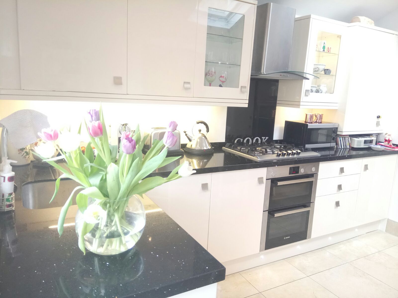 Kitchen installation, granite worktops & stone tile flooring