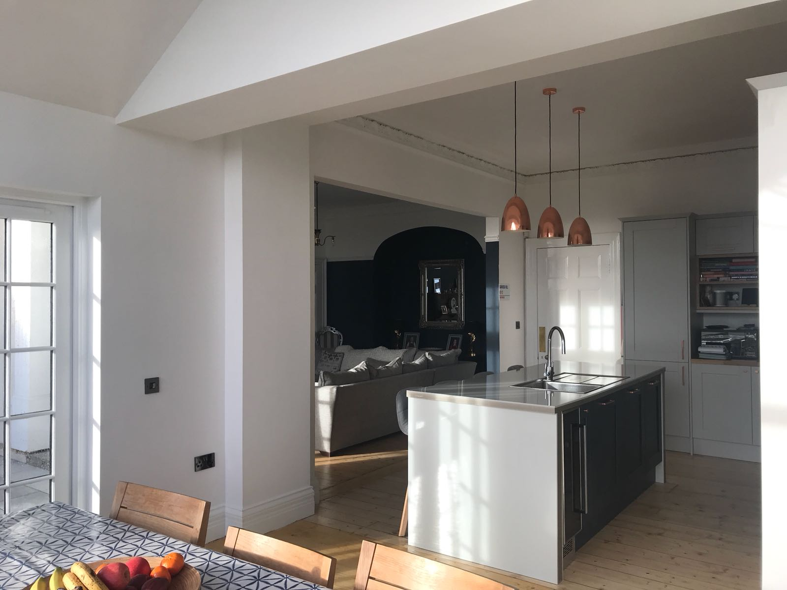 Kitchen installation within extension in Dunfermline